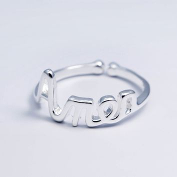 Personalized monogram 925 sterling silver ring, a perfect gift