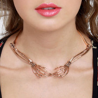 Wildfox Necklace - Rose Gold Necklace - Collar Necklace - $115.00