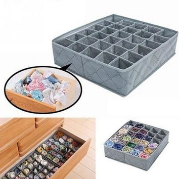 High Quality storage box organizer Flodable Non-woven Fabric Underwear Socks Drawer Organizer with 30 Cells Storage Boxes Cases