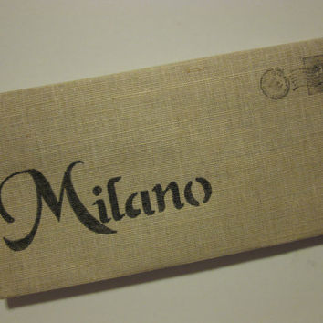 Milano Cotton Canvas Envelope Clutch City Bag