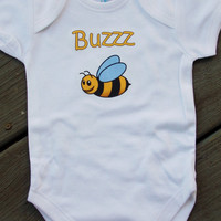 Buzz Bumblebee Baby Bodysuit. Little Bee Creeper.