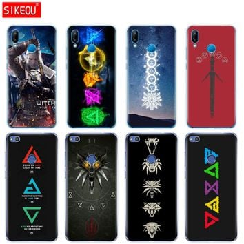 Silicone Cover Phone Case For Huawei P20 P7 P8 P9 P10 Lite Plus Pro 2017 P Smart The Witcher 3 Wild Hunt symbol signs