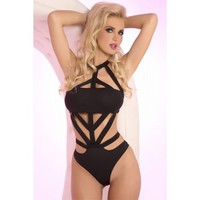 Bound Girl Black Bodysuit