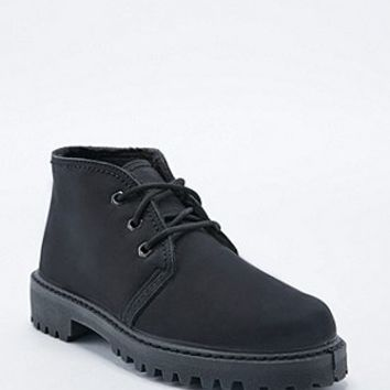 Deena & Ozzy Panda Fur-Lined Lace-Up Boots in Black - Urban Outfitters