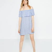FRILLED DRESS - View All-DRESSES-WOMAN-SALE | ZARA United States