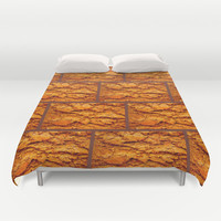 Brick house Duvet Cover by Bruce Stanfield