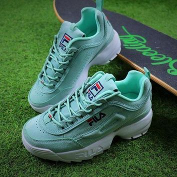 Fila Disruptor Ii 2 Mint Green Sport Running Shoes Sneaker Fw0165-028 - Beauty Ticks