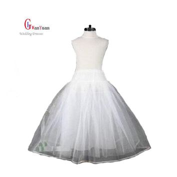 Petticoat Flower Girl Dress 2017  No Hoop Children Petticoat Crinoline Underskirt Petticoat For Flower Girl Dress Wedding