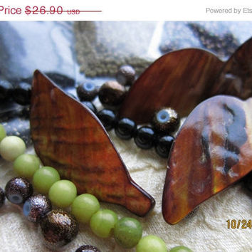 25% OFF Leaves of Copper Shell - Bead Pack, with Miyuki Delicas and Semi-Precious Beads - Limited Edition, Assortment No. 4