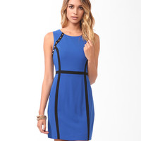 Spiked Contrast Paneled Dress