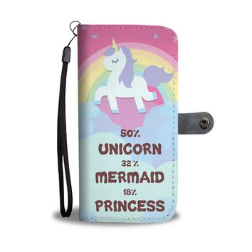 KUYOU Unicorn Mermaid Princess Wallet Phone Case