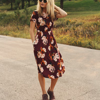 Ella Dress (Wine)