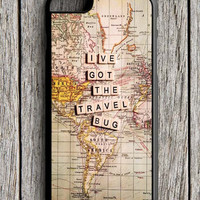 Travel World Map iPhone 6 Case