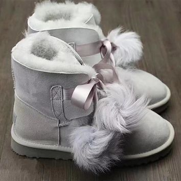 UGG Women GITA Cute Bow Boots Shoes
