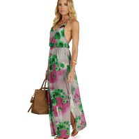 Promo-berry Red Sea Breeze Maxi Dress
