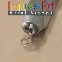 ImpressArt, Metal Jewelry Design Stamp, Swirly Heart, 6mm