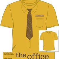 The Office Dwight Neck-Tie Work Shirt Mustard T-shirt Tee:Amazon:Clothing