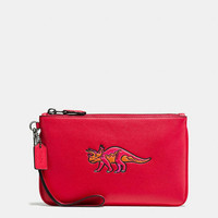 Coach Beasts Small Wristlet in Glovetanned Leather