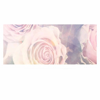 """Suzanne Carter """"Faded Beauty"""" Blush Floral Luxe Rectangle Panel"""