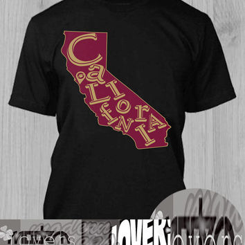 scarlet & gold cali  TShirt Tee Shirts Black and White For Men and Women Unisex Size