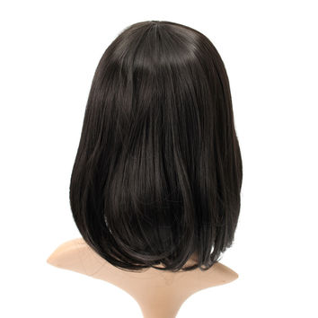 Short Wavy Curly Bangs Wig Hair Costume Cosplay Synthetic Wigs Cute High-temperature