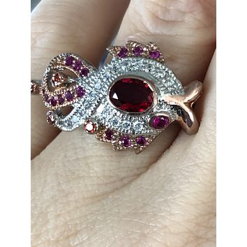 Special Edition, A Vintage 1.2CT Oval Cut Red Ruby Ring