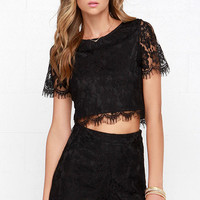 Show You Off Lace High-Waisted Shorts - Black | Daily Chic