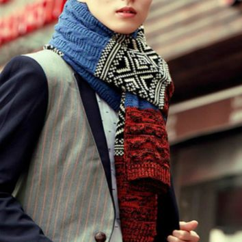 2017 scarf men cashmere knitted scarf shawl Autumn winter warm wool scarves man male long multi-color scarves new fashion wrap