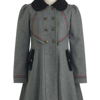 Stylish to the Chorus Coat in Grey | Mod Retro Vintage Coats | ModCloth.com
