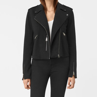ALLSAINTS UK: Womens Harper Biker Sweatshirt (Black)