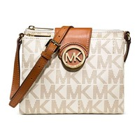 Michael Kors Fulton Brown small Crossbody Bag 32F3GFTC3B (Brown)
