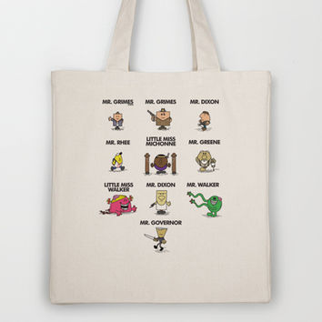 Mr Men - The Walking Dead Tote Bag by Afternoon Teelight