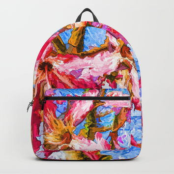 Tropical Flowers Backpacks by Lena Owens/OLenaArt