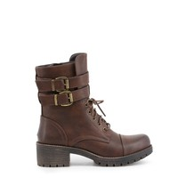 Xti Brown Round Toe Ankle Boots