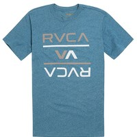 RVCA Reversed T-Shirt - Mens Tee - Blue