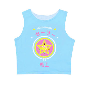 Sailor Moon Crystal Power Blue Crop Top inspired by Japanese Anime Sailor Moon!