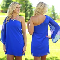 One For The Money Dress in Royal Blue
