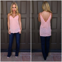 Hot Mess Knit Tank In Neon Pink