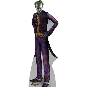 The Joker Batman Arkham Asylum Video Game Cardboard Standup