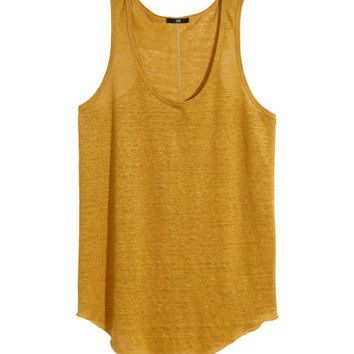 Linen Tank Top - from H&M