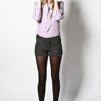 purple label - women's rumors sweater shorts (charcoal) - Purple Label | 80's Purple