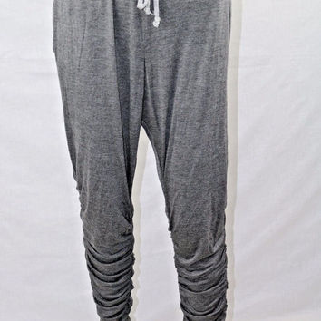 sWEat-by-WhitneyPort-Women-039-s-Jogger-Pants-Charcoal-Heather-Size-XL