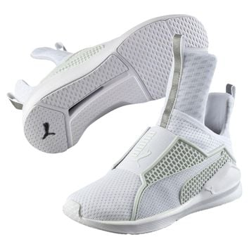 New Women's Puma Fenty Trainer - 189695-02 - White Mesh Training Sneaker