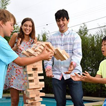 Jenga GIANT Family Hardwood Game