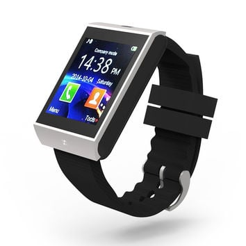 Bluetooth Smart Watch Wrist Clock Sync Notifier Support SMI TF for iphone Android Samsung S5/S6/Note2/3 Smartphones Smartwatch