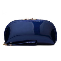 Women Patent Leather Hobos Clutch Bag Evening Party Bags Ladies Handbags Coin Purses Pochette Soiree Makeup Bag Bolsas Feminina