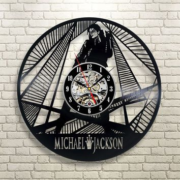 Michael Jackson Vinyl Record Wall Clock