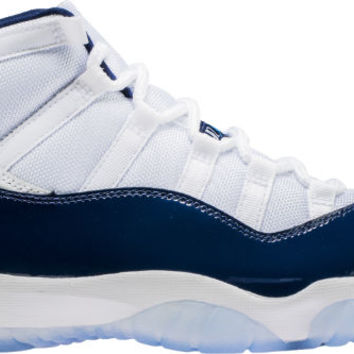 AIR JORDAN RETRO 11 WIN LIKE 82 MENS LIFESTYLE SHOE (WHITE/MIDNIGHT NAVY BLUE)
