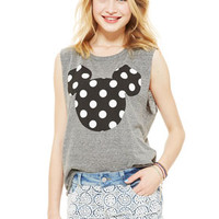 Polka Dot Mickey Tee - Grey
