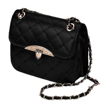 Quilted Chain Strap Small Shoulder Bag
